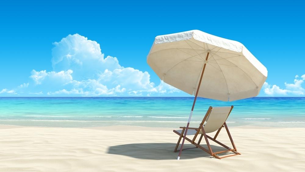 Желтый зонтик, шезлонг, море бесплатно