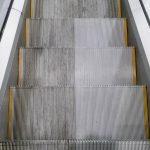 Cleaned wih STEP 100 escalator cleaning machine